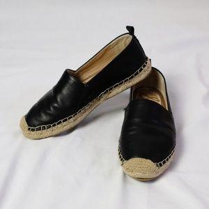 Sam Edelman Khloe Black Leather Espadrilles 7